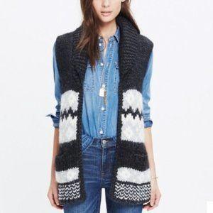 Madewell Fair Isle Sweater Alpaca Wool Vest Small